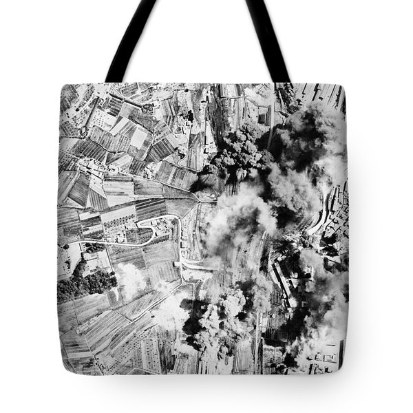 Allied Aerial Bombardment - Ww2 Italy - 1943 Tote Bag