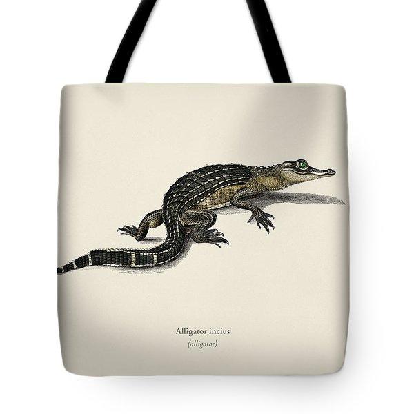 Alligator  Alligator Incius  Illustrated By Charles Dessalines D' Orbigny  1806-1876 . Tote Bag