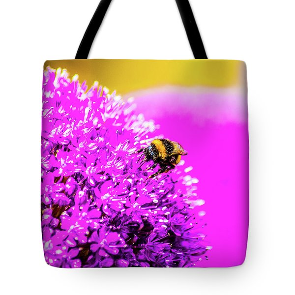 Allium With Bee 2 Tote Bag