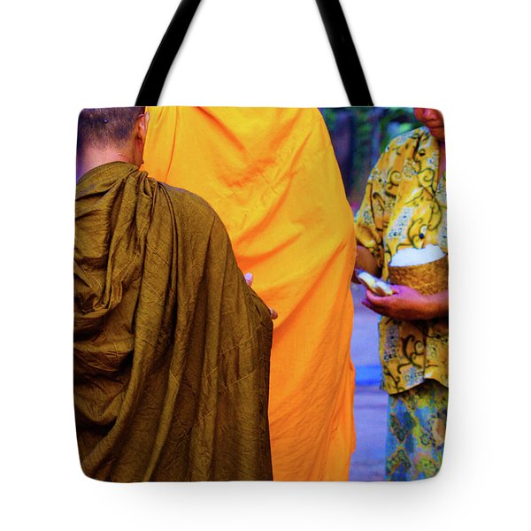 Alms For The Monks Tote Bag
