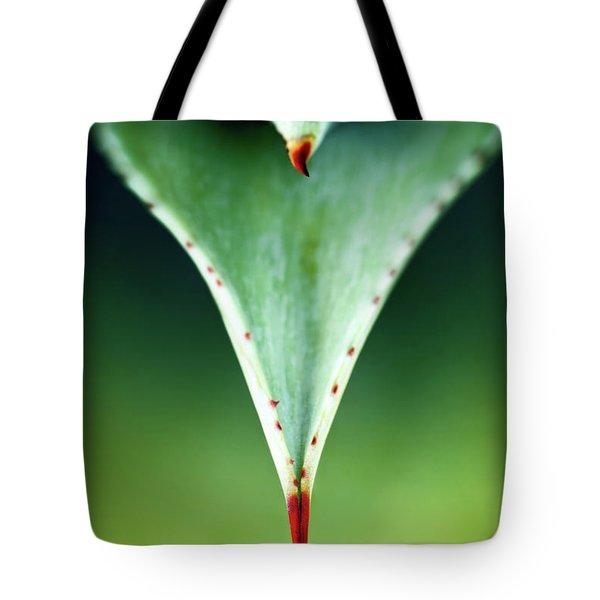 Aloe Thorn And Leaf Macro Tote Bag