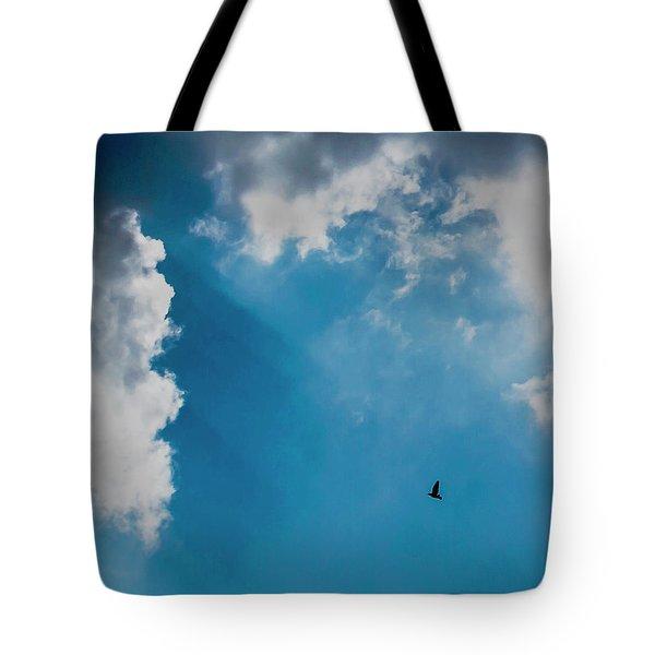 Colours. Blue. Alone. Tote Bag