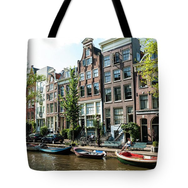 Along An Amsterdam Canal Tote Bag