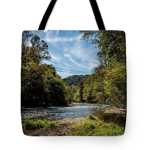 Along Oconaluftee River Trail Tote Bag