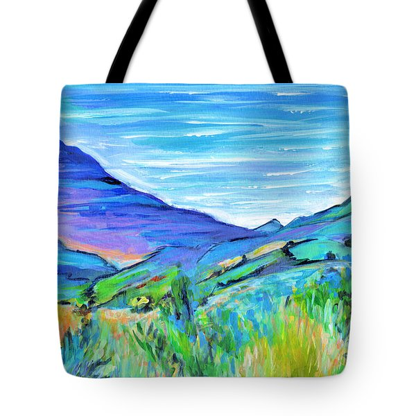 Along The Blue Basin Scenic Highway Tote Bag