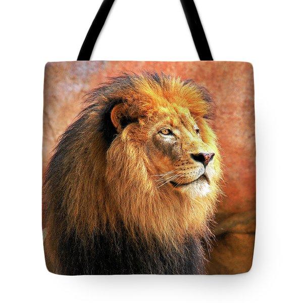 Alpha Male Lion Tote Bag