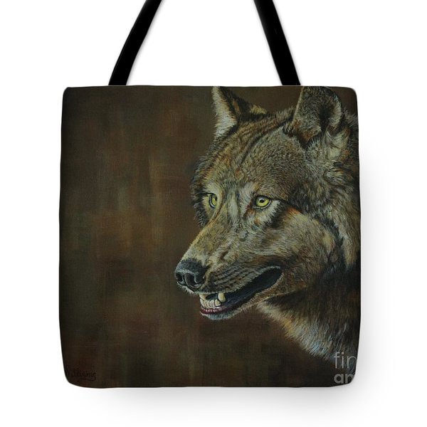 Alpha Male ......the Gray Wolf Tote Bag