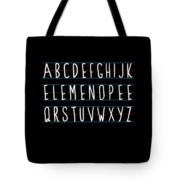 Alphabet Elemeno Tote Bag