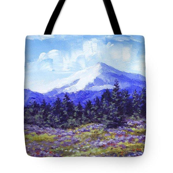 Alpine Meadow Sketch Tote Bag