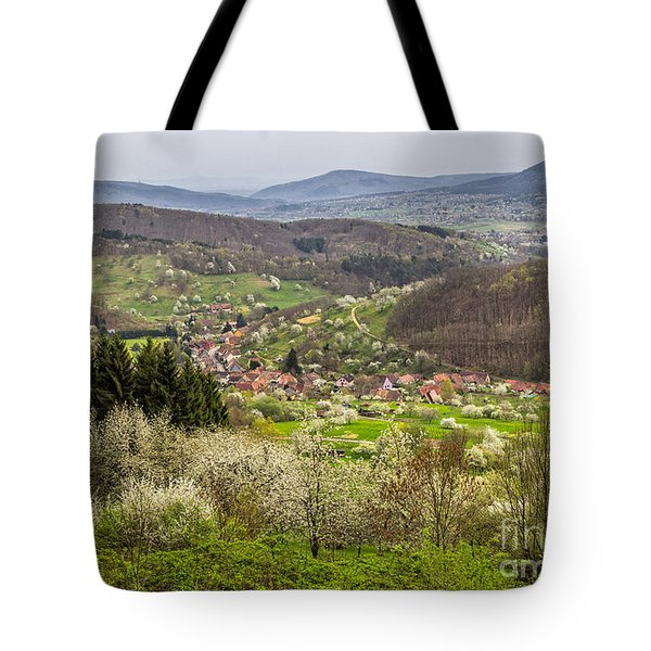Tote Bag featuring the photograph Alsace Countryside by Bernd Laeschke