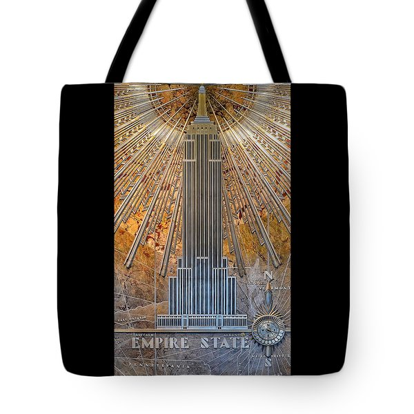 Aluminum Relief Inside The Empire State Building - New York Tote Bag