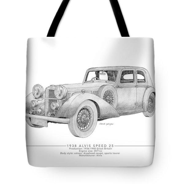 Alvis Speed 25 Saloon Tote Bag
