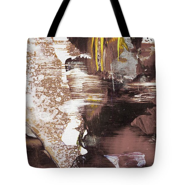 Always On My Mind - Brown Contemporary Abstract Painting Tote Bag