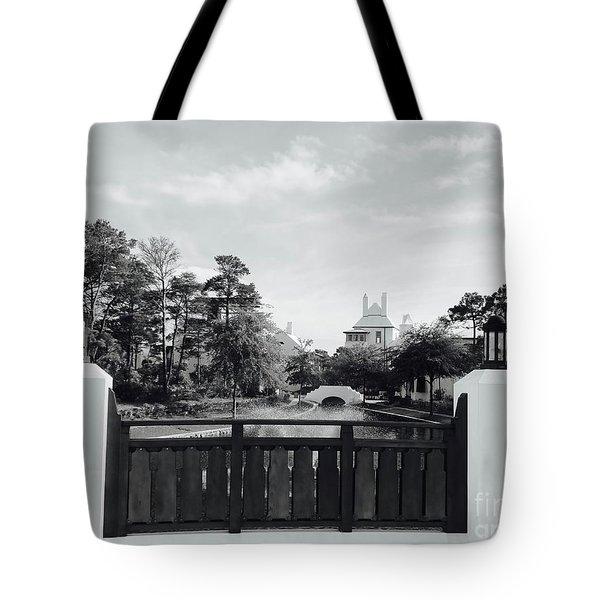 Alys Beach Black And White Tote Bag