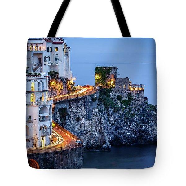 Amalfi Coast Italy Nightlife Tote Bag