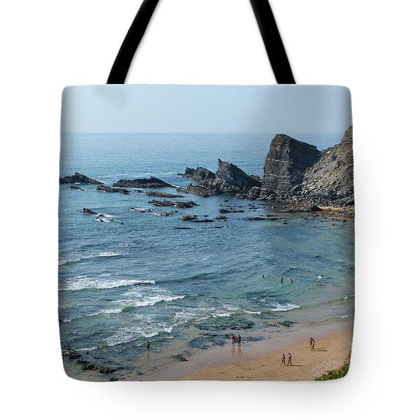 Amalia Beach From Cliffs Tote Bag