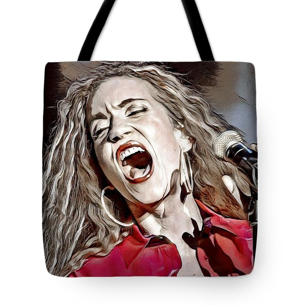 Tote Bag featuring the digital art Amanda Marshall by Pennie McCracken