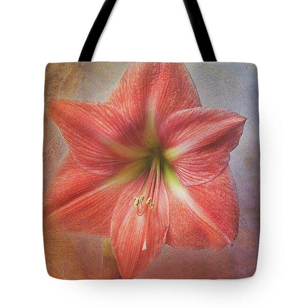 Amaryllis 'terra Cotta Star' Tote Bag