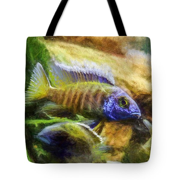 Amazing Peacock Cichlid Tote Bag