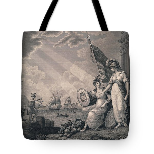 America Guided By Wisdom Tote Bag