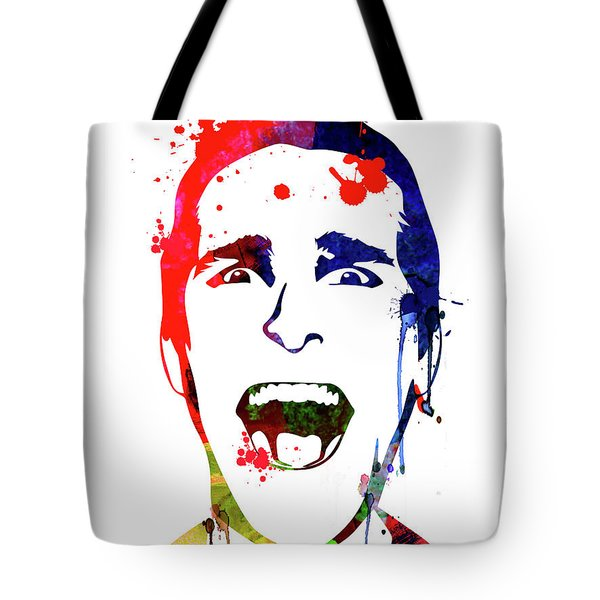 American Psycho Watercolor Tote Bag