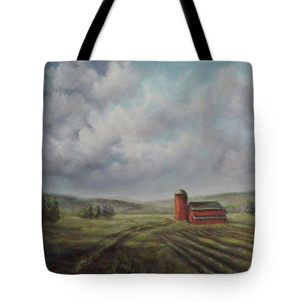 American Scene Red Barn  Tote Bag