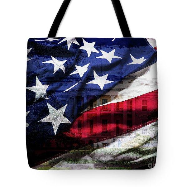 American White House Tote Bag