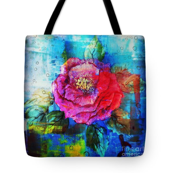 Tote Bag featuring the mixed media Amidst The Chaos by Sabine ShintaraRose