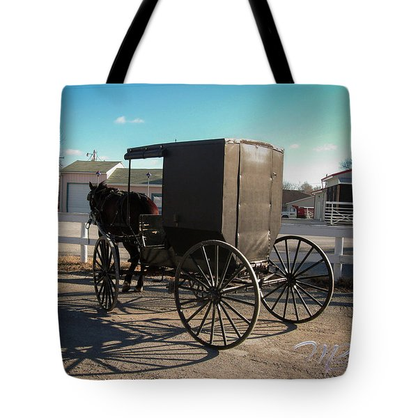 Amish Transportation Tote Bag