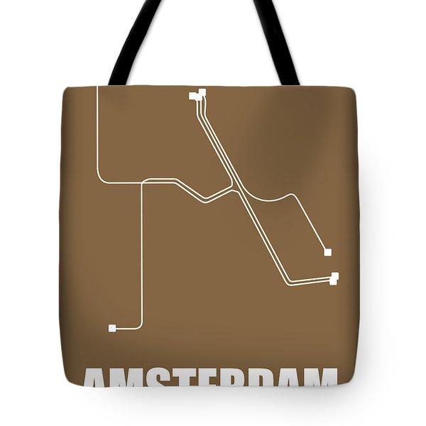 Amsterdam Subway Map 2 Tote Bag