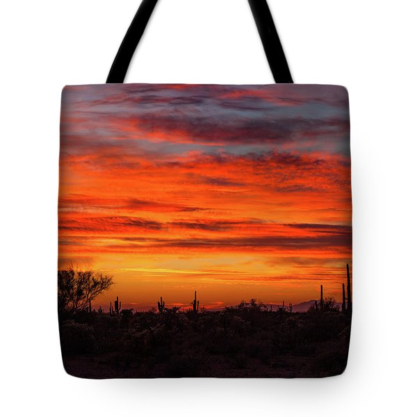 Tote Bag featuring the photograph An Arizona Sky by Rick Furmanek