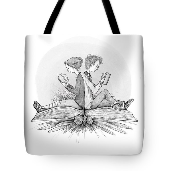 An Open Book Tote Bag