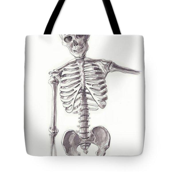 Anatomical Study Of Skeleton Tote Bag