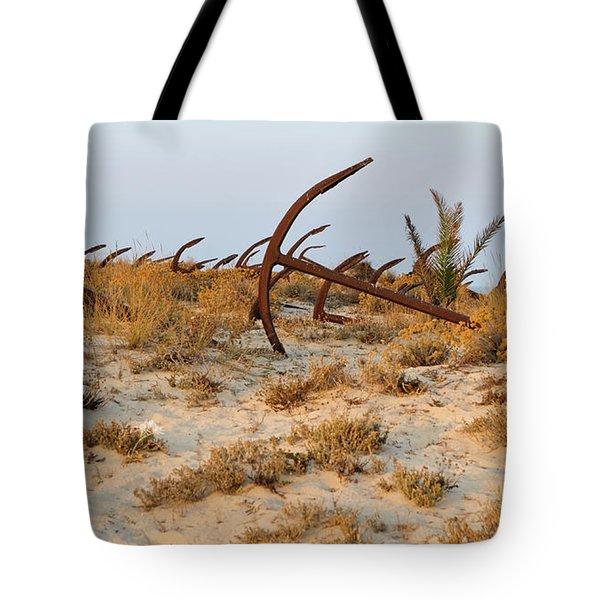 Anchors In Barril Beach Tote Bag