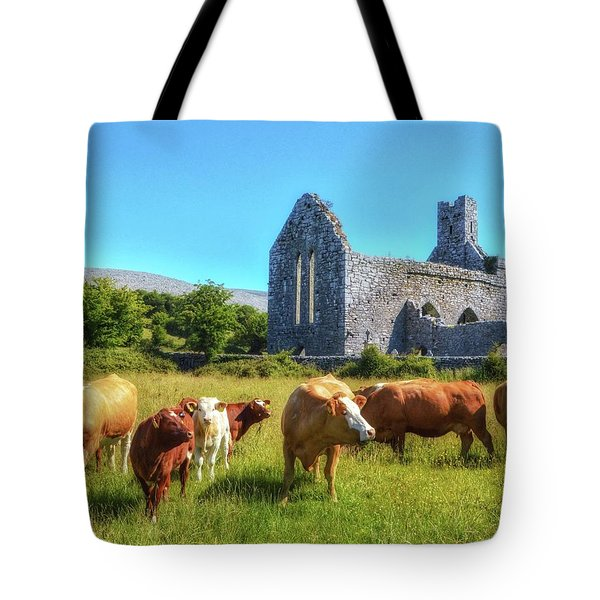 Ancient Cows Tote Bag