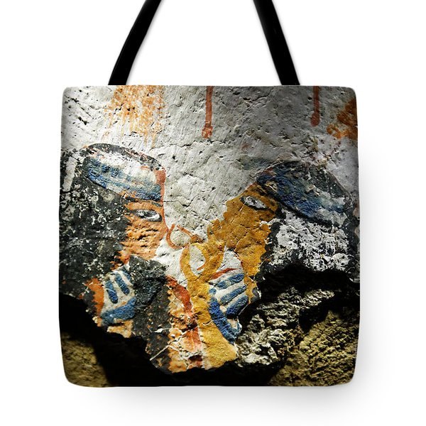 Tote Bag featuring the photograph Ancient Egypt Art  by Sue Harper