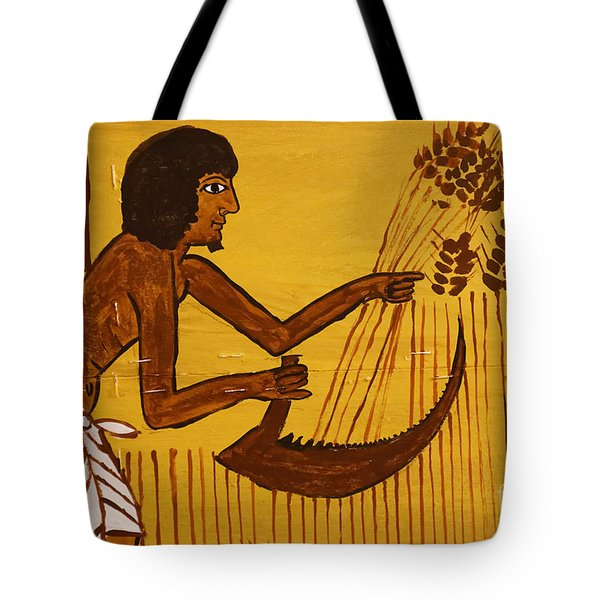 Tote Bag featuring the photograph Ancient Egypt Farmer by Sue Harper