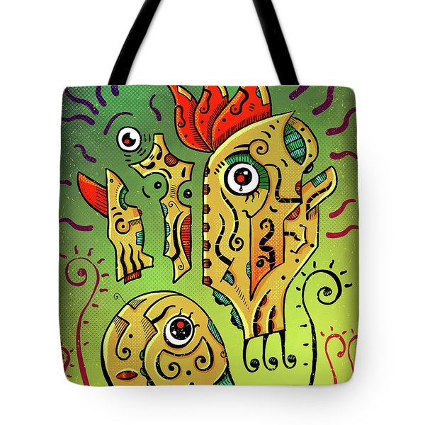 Tote Bag featuring the digital art Ancient Spirit by Sotuland Art
