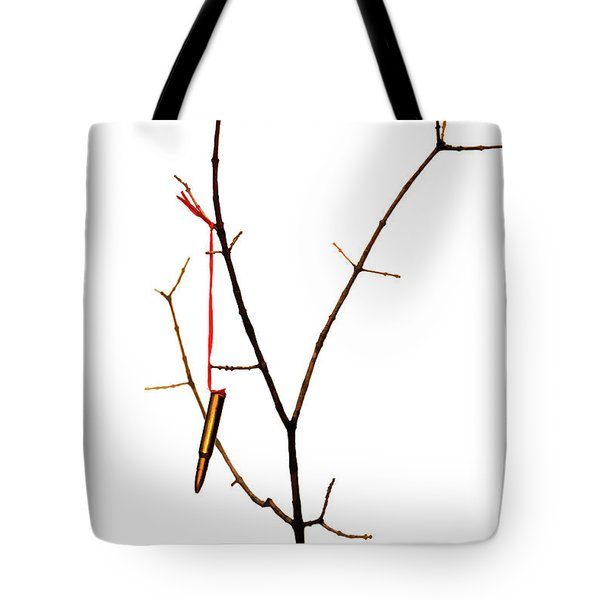 And A Cartridge In A Bare Tree... Tote Bag