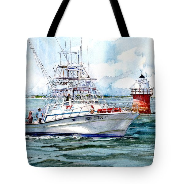 Andy Lynn II As She Passes The Bug Tote Bag