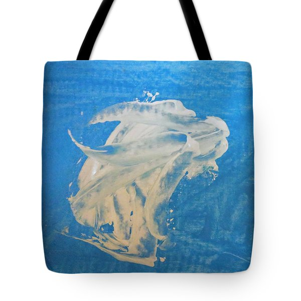Angel And Dolphin Riding The Waves Tote Bag