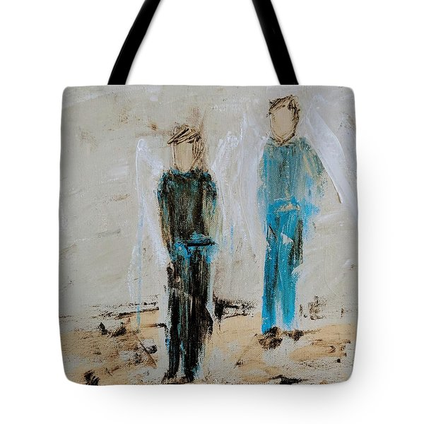 Angel Boys On A Dirt Road Tote Bag
