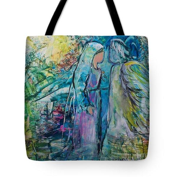 Angel Encounter Tote Bag