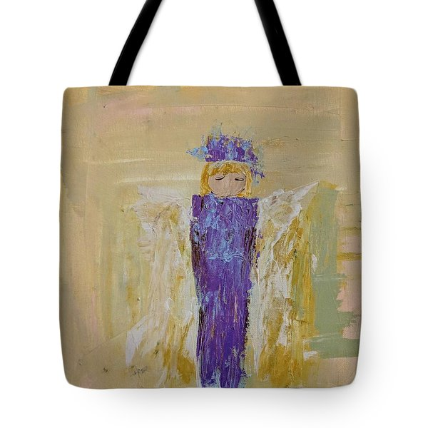 Angel Girl With A Unicorn Tote Bag