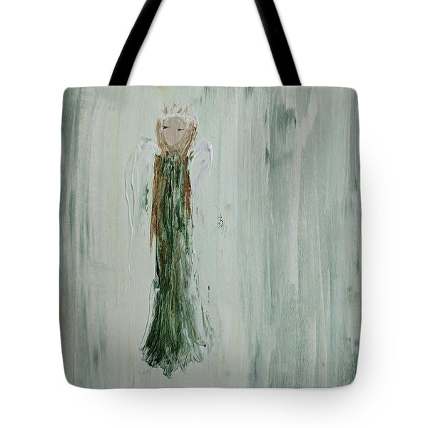Angel In Green Tote Bag