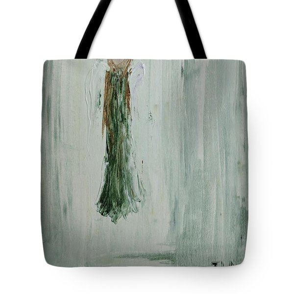 Angel In Green Tote Bag