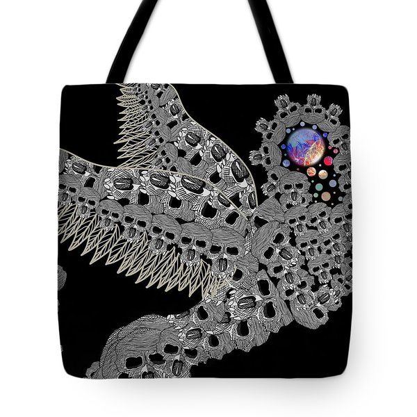 Angel Of Death Light With Worlds To Destroy Save Tote Bag