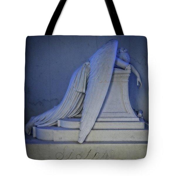 Angel Weeping Tote Bag
