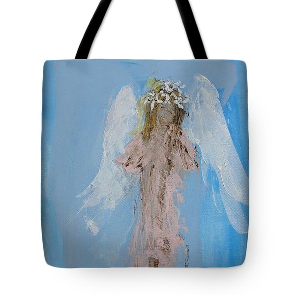 Angel With A Crown Of Daisies Tote Bag