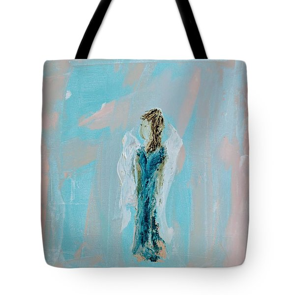 Angel With Character Tote Bag